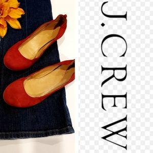 J.CREW RED FLATS SHOES
